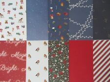 10 x A Christmas Wish A5 Papers Set 2 For Cardmaking & Scrapbooking