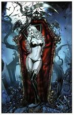LADY DEATH - CRYSTAL ART PRINT - MIKE KROME PENCILS & SIGNED & BRIAN PULIDO