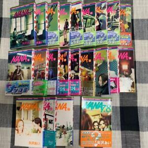 NANA Vol.1-21 + 7.8 Premium fan book Japanese Ver Manga Comics Set Complete