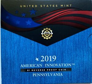 2019 S American Innovation $1 Reverse Proof Pennsylvania - The Polio Vaccine