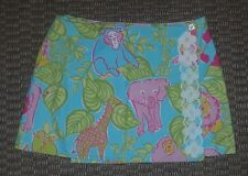 Lilly Pulitzer womens reversible jungle animals or crabs wrap skirt size 8
