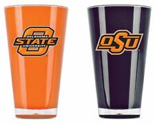 Oklahoma State Cowboys Tumblers - Set of 2 20oz Glass [NEW] Tumbler Coffee Cup