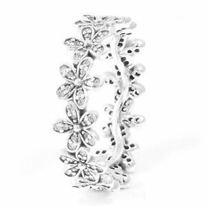 Daisy Flower Ring 925 Solid Sterling Silver Band Dazzling Daisies Many Sizes