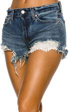 People Womens Daisy Blue Denim Lace Inset Cutoff Shorts 26 BHFO 9727