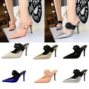 Women's Sexy Pointed Toe Shoes Buckle Straps Party High Heels Stiletto Sandals