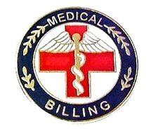 Red Cross Caduceus 115 New Medical Billing Lapel Pin Professional Medical