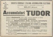Z1800 TUDOR - Batterie per Sommergibili - Pubblicità d'epoca - 1923 Old advert