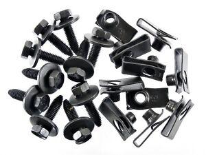 Ford Body Bolts & U-nut Clips- M8-1.25 x 30mm Long- 13mm Hex- 20 pcs (10ea) #155