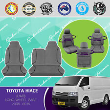 FOR TOYOTA HIACE VAN 2005-2014 CANVAS WATERPROOF TAILOR MADE GREY SEAT COVERS