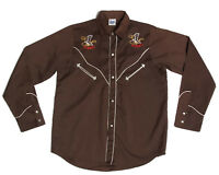 Vtg Western Rodeo Embroidered Snap Front Mens Shirt Coco Authentic Vaquera sz 36