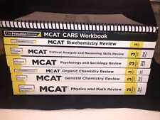 MCAT Prep Princeton Review 3rd Edition, Seven Books + CARS Very Good Condition