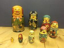 Clown Russian Nesting Dolls Jester Joker - 8 Piece