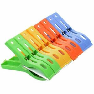 8Pcs Beach Towel Clips Plastic Quilt Pegs For Laundry Sunbed Lounger Clothes CA