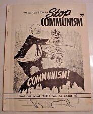 Stop Communism-Red Scare-Birmingham News-Alabama-Booklet-1962-Editorials