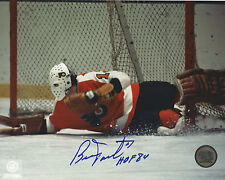 "BERNIE PARENT Autographed Signed 8"" x 10 Photo Philadelphia Flyers COA"