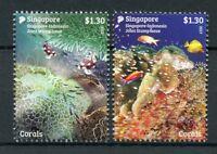 Singapore 2017 MNH Corals JIS Indonesia 2v Set Fish Fishes Marine Stamps