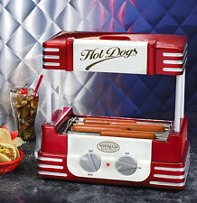 Nostalgia Electrics RHD800 Retro Series 1950's Style Hot Dog Roller In Red New