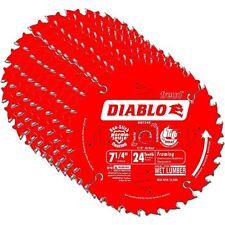 (10 BLADES) Freud D0724X Diablo 7-1/4-inch 24T ATB Framing Saw Blades