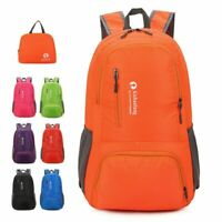 Folding Travel Backpack Outdoor Bag Waterproof Lightweight Hiking Camping Sports