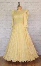 Vintage Dress Gown 80s Women Victorian Style Prom Evening Cocktail Party Size 8