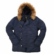 Alpha Industries Men's N-3B Parka,  Replica Blue, XLarge