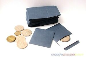 """250PCs New Coin Paper Envelopes 2""""x2"""" with Flap Fit to Cardboard Coin Flip"""