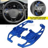 Paire Bleu Extension Palette Volant pour VW GOLF GTI R GTD GTE VII 7