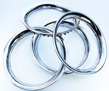 """Chrome Wheel Trim Rings (Band) 16"""" set 4. Steel with Chrome Finish Band Ring"""