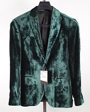 New BNWT mens ZARA sz 38 green velvet 'Legend' collection jacket blazer