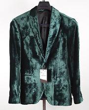 New BNWT mens ZARA sz 38 green velvet 'Legend' collection jacket blazer