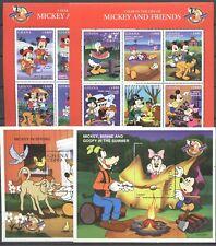 Walt Disney - Ghana - 2 KB,  Bl.356-357 ** MNH 1998 mit Aufdruck