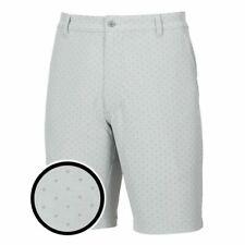 Footjoy Golf Shorts - Short Box Print - Heather Grey - Choose Sizes