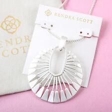 NEW Kendra Scott Deanne Long Pendant Necklace In Bright Silver