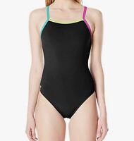 NWT Speedo Women's Swimsuit One Piece ProLT Propel Back Solid Black Size 6