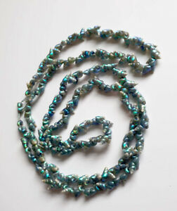 Antique Aboriginal Tasmanian Maireener Shell Long Necklace Restringing