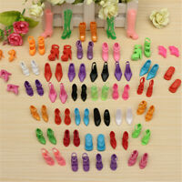 80pcs Fashion Doll High Heels Shoes Boots Sandals For Dolls Outfit Dress Gifts