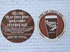 Beer Collectible COASTER: Thomas Creek Brewery ~ Play Free Bird ~ South Carolina