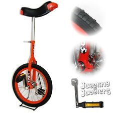 """Indy pro trainer 16"""" inch Unicycle - Red"""