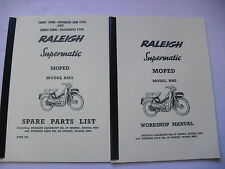 Raleigh Moped / RM5 / Workshop manual+Spare parts list /With Exploded Diagrams