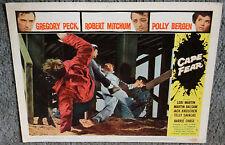 CAPE FEAR 11x14 ROBERT MITCHUM original 1962 lobby card movie poster
