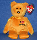 TY (I LOVE) GERMANY the BEAR BEANIE BABY - GERMAN EXCLUSIVE - MINT with MINT TAG