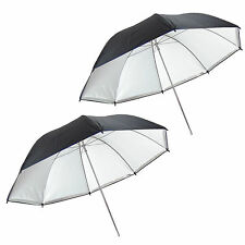 Kit 2x Parapluie Studio Reflecteur Diffuseur Détaché UR05 2en1 Argent/Blanc 109