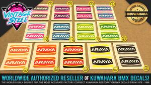 NEW! Araya 'CUSTOM COLOR' Rim / Wheel BMX Decal Stickers (1 PAIR) - Araya 7x, 7C