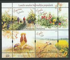 "Moldova 2019 ""Traditional Folk Months"" MNH Block"