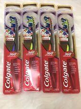 Colgate 360 Advanced Purple Medium Bristle Tooth brushes Lot Of 4
