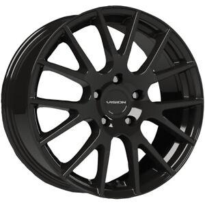 """Vision 18 Hellion 14x5.5 4x100 +38mm Gloss Black Wheel Rim 14"""" Inch"""