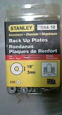 "Stanley Aluminum Back Up Plates 1/8"" 100 Per Package Pba4-1B"
