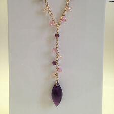 COLLANA BOCCADAMO donna  argento 925 cristallo Swarovski viola, rosa ref GR381D