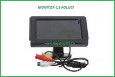 """MONITOR LCD 4.3"""" POLLICI A COLORI PER TELECAMERA RETROMARCIA PARCHEGGIO AUTO DVD"""