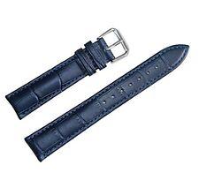 Cinturino In Pelle Universale Ricambio Per Orologio Larghezza 24mm Blu lac